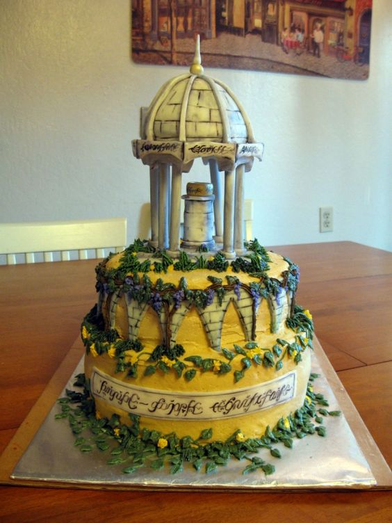 9 Hobbit Themed Wedding Cakes Photo - Lord of the Rings Rivendell ...