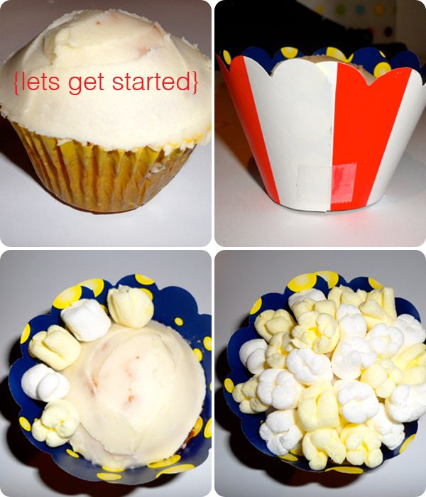 7 Popcorn Marshmallow Topped Cupcakes Photo