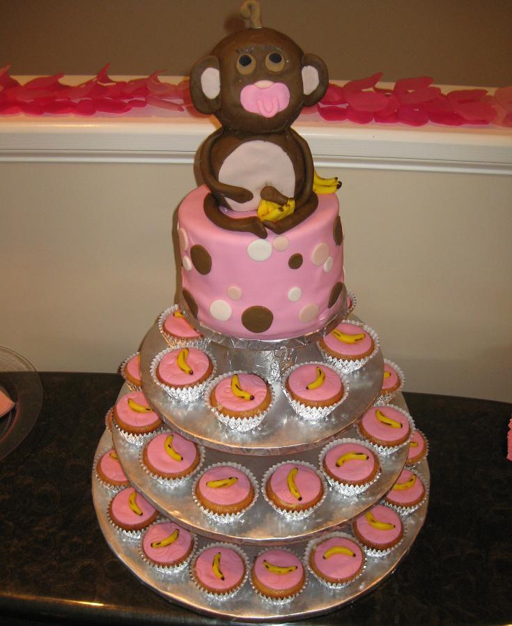 12 Monkey Baby Shower Cakes Designs Photo Monkey Baby Shower Cake