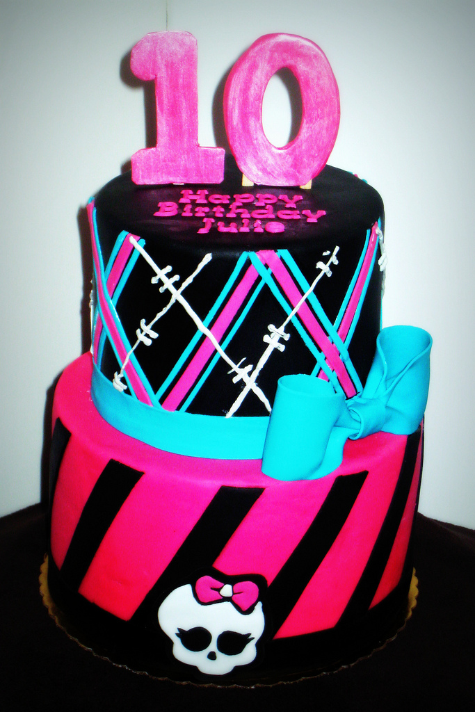 Admirable 9 Monster High Birthday Cakes For Girls 10 Year Old Photo 10 Funny Birthday Cards Online Fluifree Goldxyz