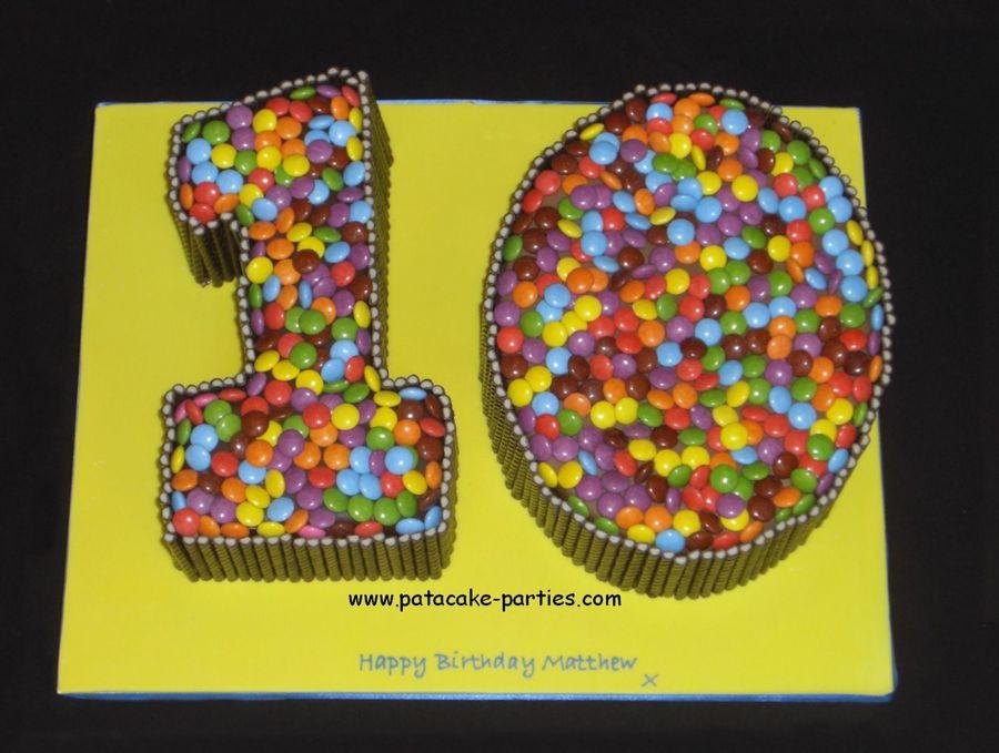 Number 10 Birthday Cake Boy