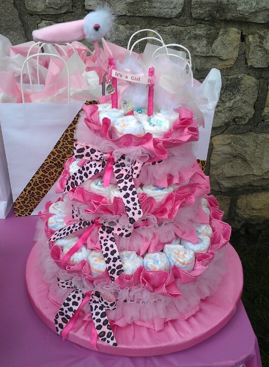 5 Pinterest Diaper Cakes For Girls Photo Baby Girl Diaper Cake