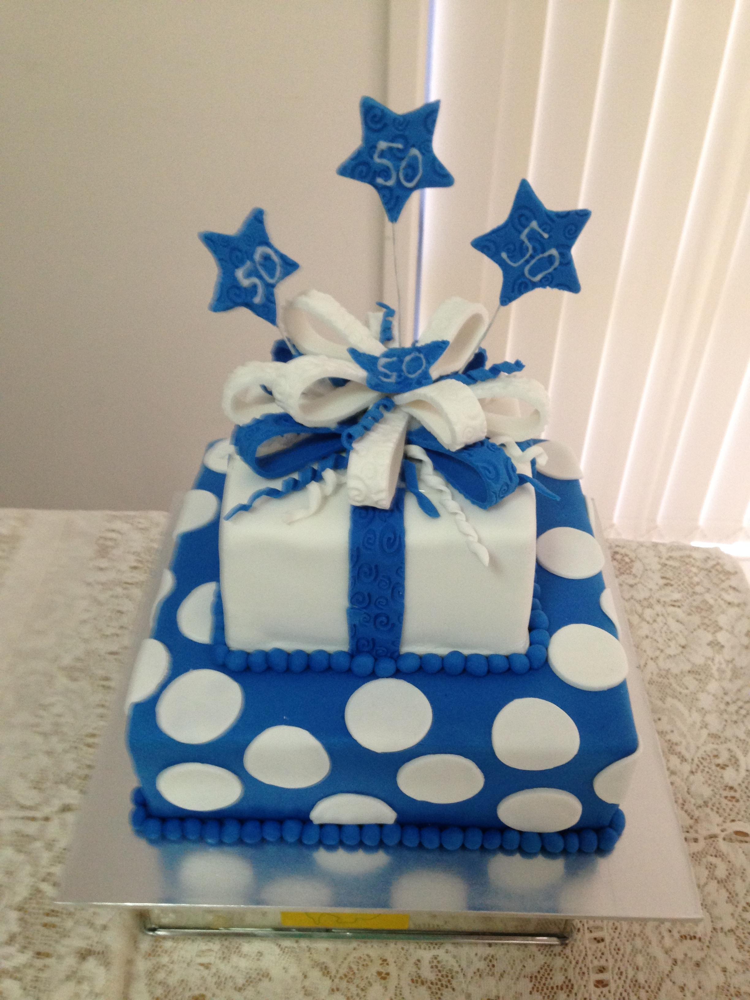 Phenomenal 10 Royal Blue Birthday Cakes Photo Royal Blue Wedding Cake Personalised Birthday Cards Veneteletsinfo