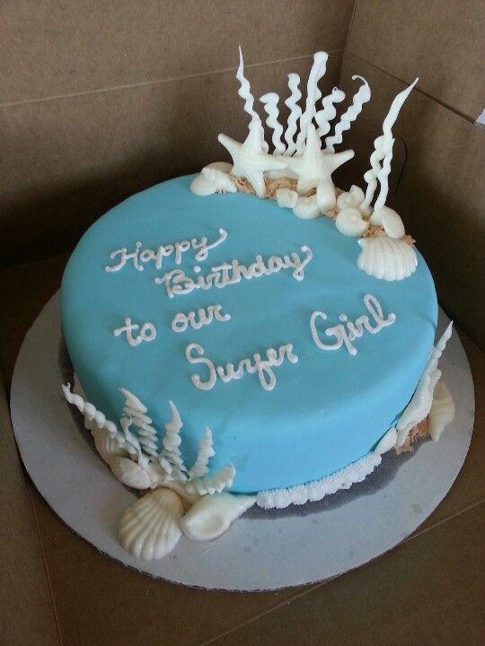 8 Birthday Cakes Sheet Seashell Photo Cake Seashell Birthday