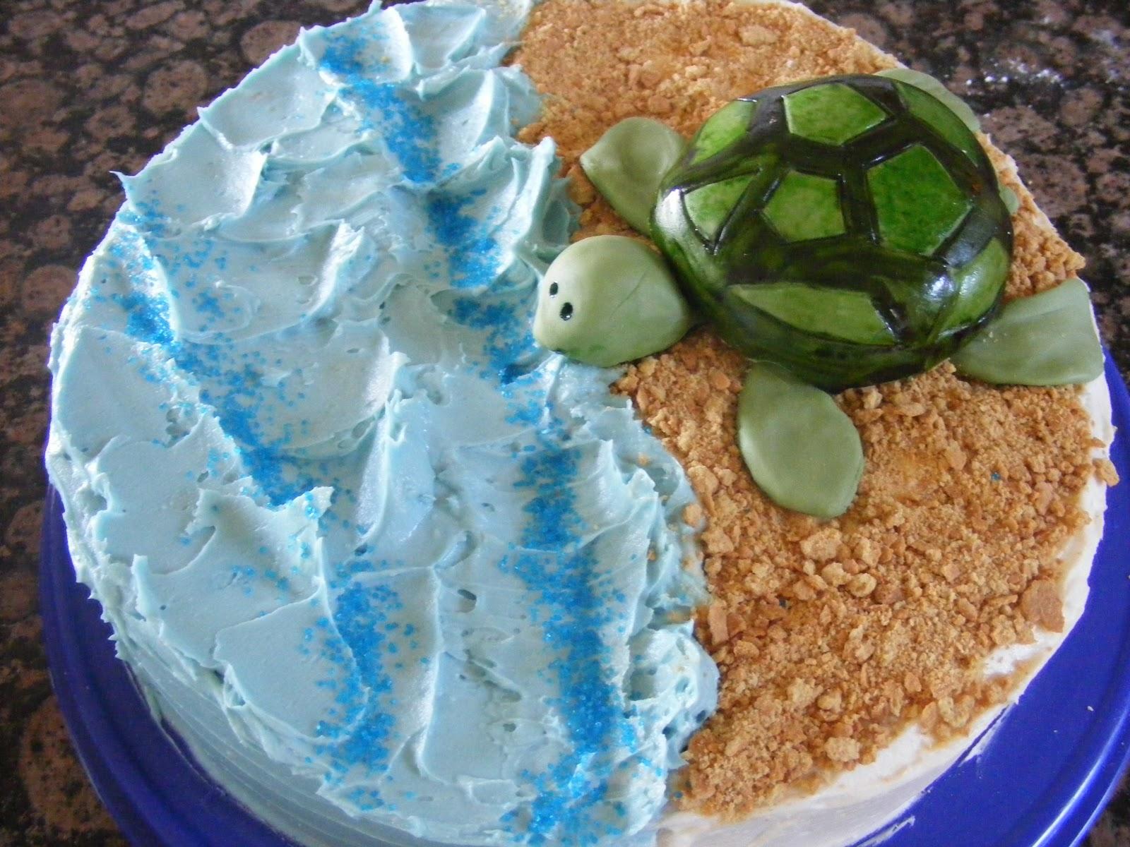 8 Sea Turtle Decorated Cakes Photo Sea Turtle Birthday Cake Ideas