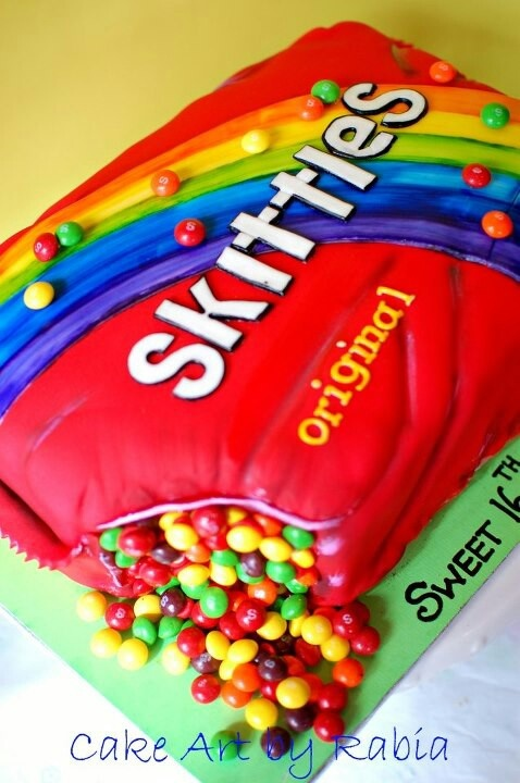 Surprising 8 Skittles Candy Birthday Cakes Photo Skittles Birthday Cake Funny Birthday Cards Online Barepcheapnameinfo