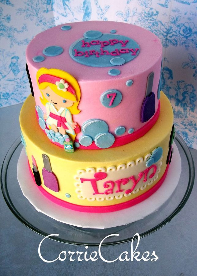 Excellent 10 Spa Themed Birthday Cakes Photo Girls Spa Birthday Cake Ideas Personalised Birthday Cards Xaembasilily Jamesorg