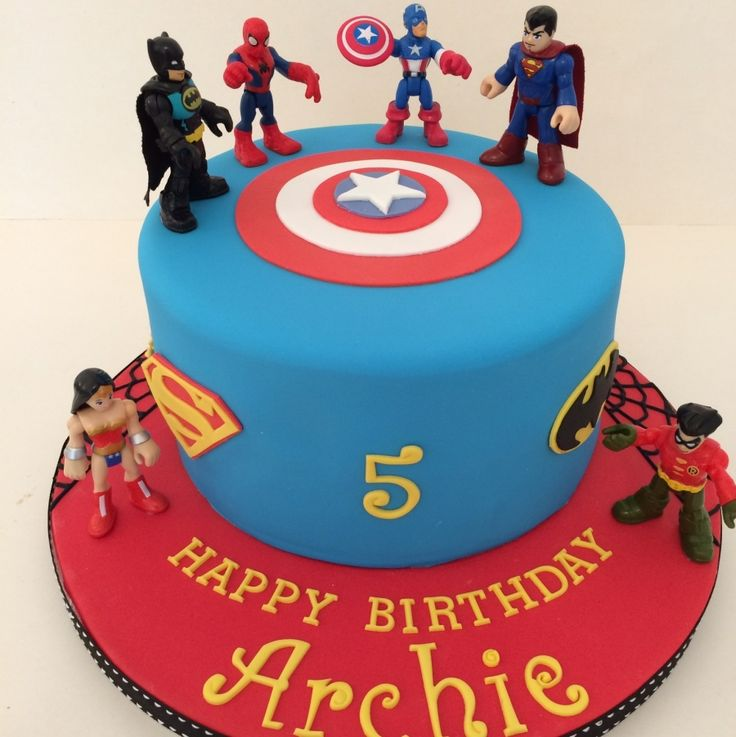 12 Super Heroes Cakes Ideas Photo Superhero Cake Spider Man