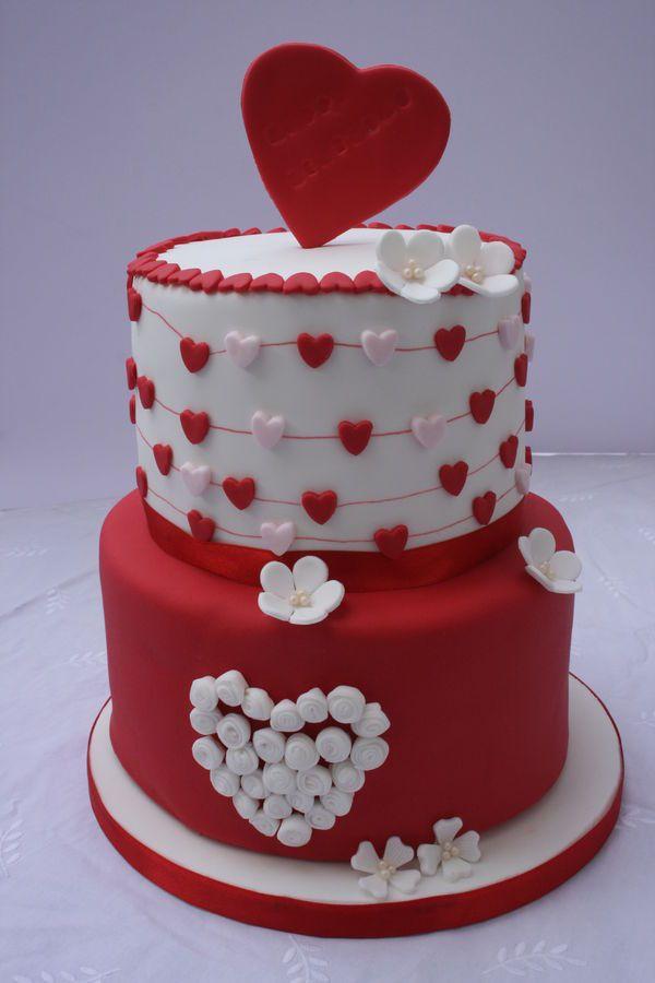 Valentine Heart Birthday Cake