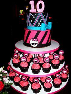 Incredible 12 Monster High Cakes Of Ice Photo Monster High Cake Games Personalised Birthday Cards Veneteletsinfo