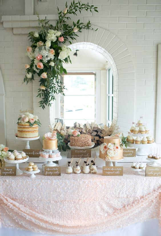 wedding shower cake table ideas