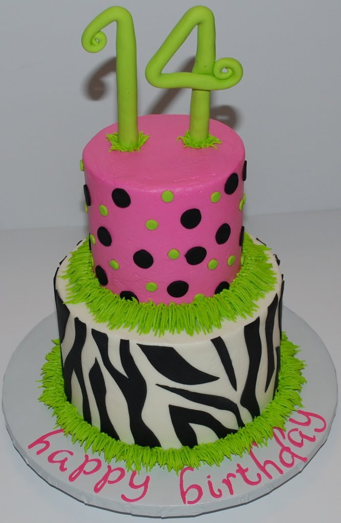 7 Pretty Birthday Cakes For Girls 14 Photo Year Old