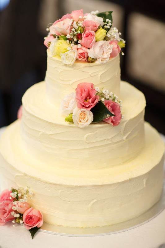 7 Three Tier Cakes With Buttercream Frosting Photo - 3 Tier Round ...