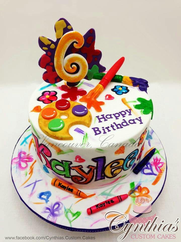 Cool 12 Paint Themed Birthday Cakes Photo Art Paint Party Birthday Funny Birthday Cards Online Necthendildamsfinfo