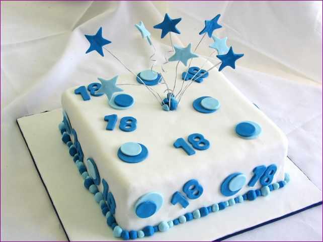 11 18th Birthday Cakes Square Cakes Photo 18th Birthday Cake Ideas