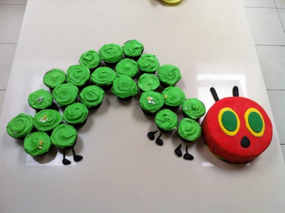 12 Hungry Caterpillar Cupcakes Photo