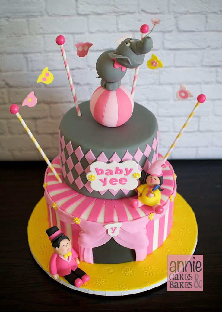 Girl Baby Shower Circus Theme