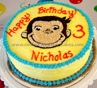 Incredible 10 Coolest Curious George Birthday Cakes Photo Curious George Funny Birthday Cards Online Sheoxdamsfinfo