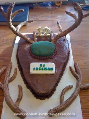 Deer Antler Birthday Cake