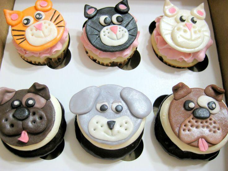 6 Dog Face Cupcake Cakes Photo Puppy Dog Decorated Cupcakes Dog