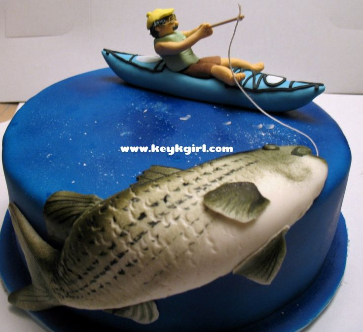 Remarkable 13 Fish Themed Birthday Cakes For Men Photo Fishing Birthday Funny Birthday Cards Online Eattedamsfinfo