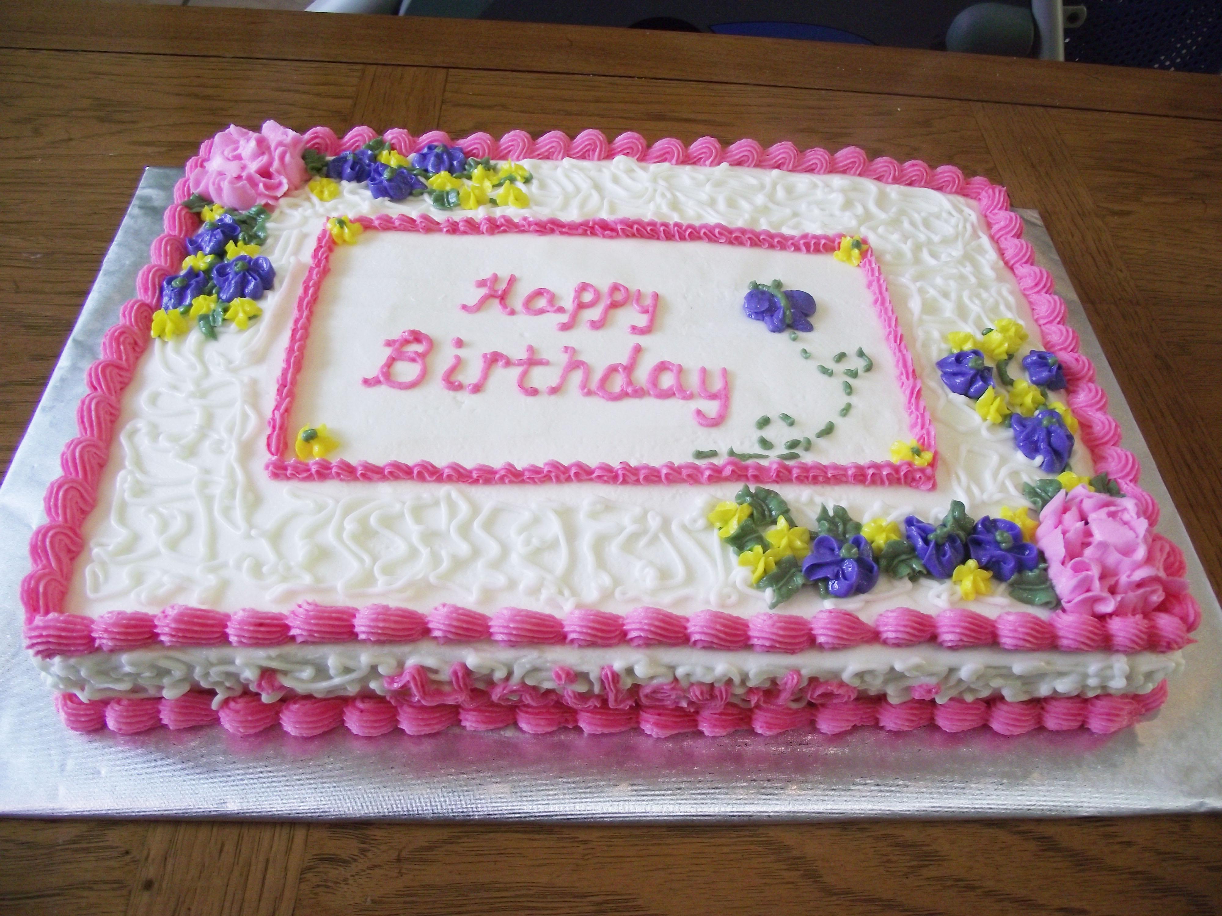 Girl Birthday Sheet Cake Ideas