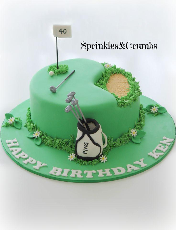 9 40th Birthday Golf Cakes Photo Happy Birthday Golf Cake 40th
