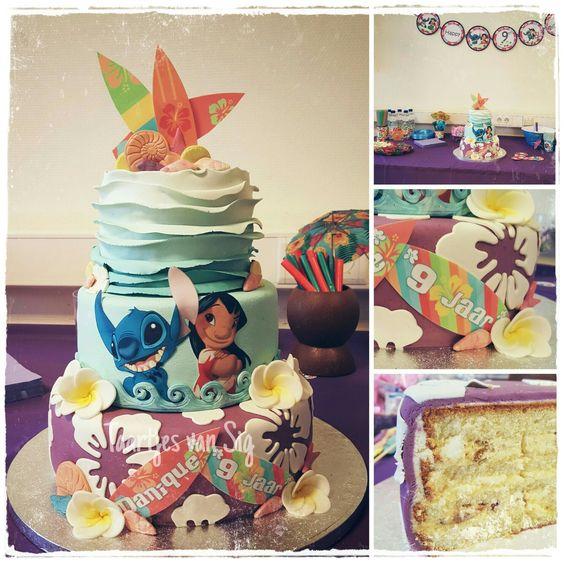 8 Cool Lilo And Stitch Cakes Photo Lilo And Stitch Luau Cake Lilo