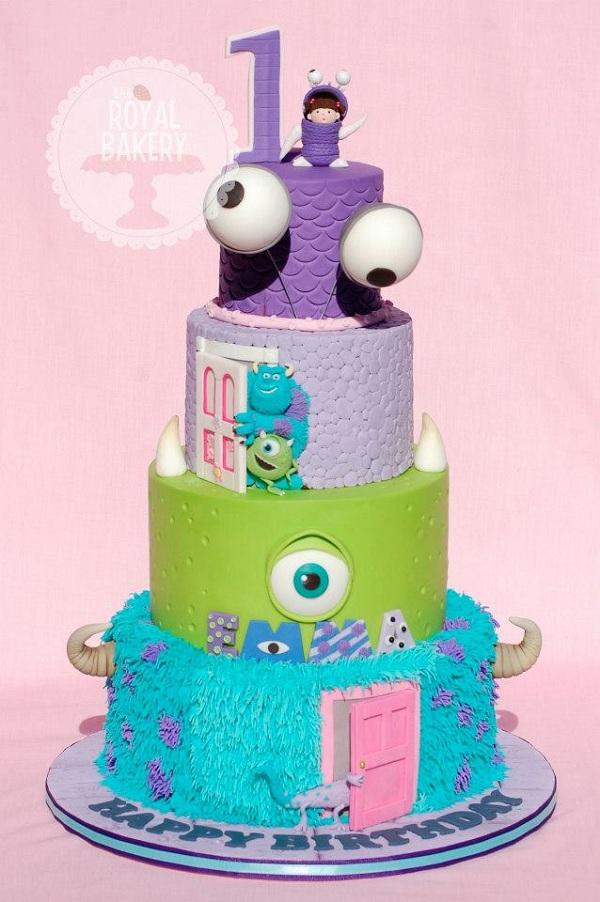 Awe Inspiring 5 Monster Incorporated Cakes Photo Monsters Inc University Cake Funny Birthday Cards Online Kookostrdamsfinfo