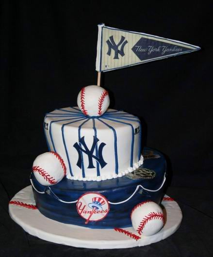 Sensational 9 New York Yankees Baby Shower Cakes Photo New York Yankees Baby Funny Birthday Cards Online Benoljebrpdamsfinfo