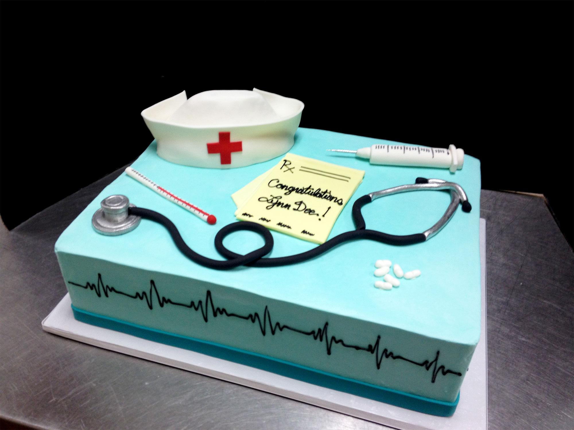11 Medical Retirement Cakes Photo Nurse Retirement Cake Idea