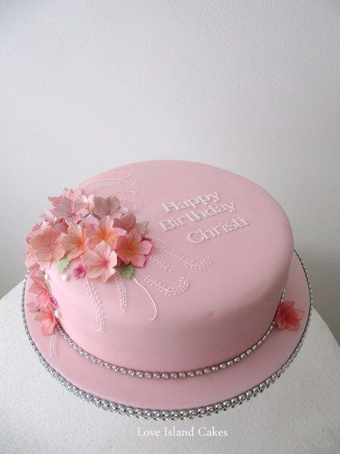 10 Single Layer Birthday Cakes With Flowers Photo Single Tier Cake