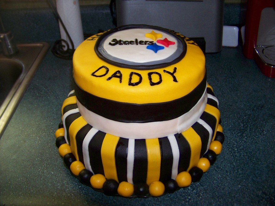 13 Steeler Birthday Cakes Awesome Photo Pittsburgh Steelers