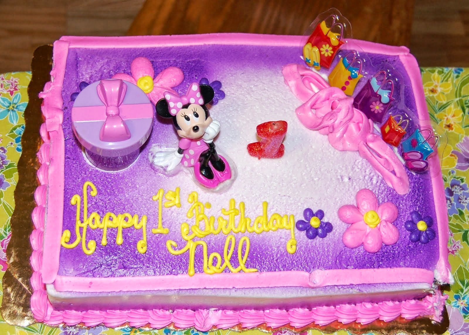 Publix Minnie Mouse Birthday Cake