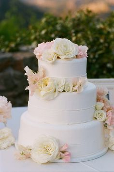 11 3 Tier Wedding Cakes With Flowers Photo 3 Tier Wedding Cake