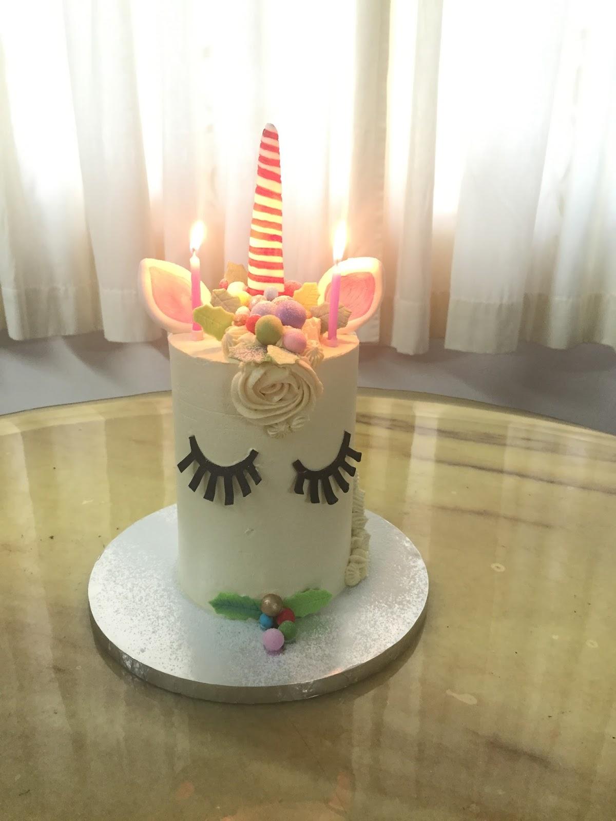 Unicorn Birthday Cake Candles