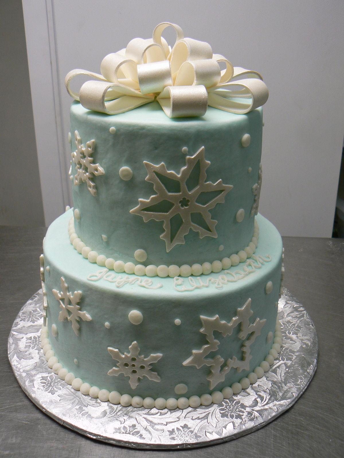Fine 11 Winter Themed Birthday Cakes Photo Disney Frozen Birthday Funny Birthday Cards Online Elaedamsfinfo