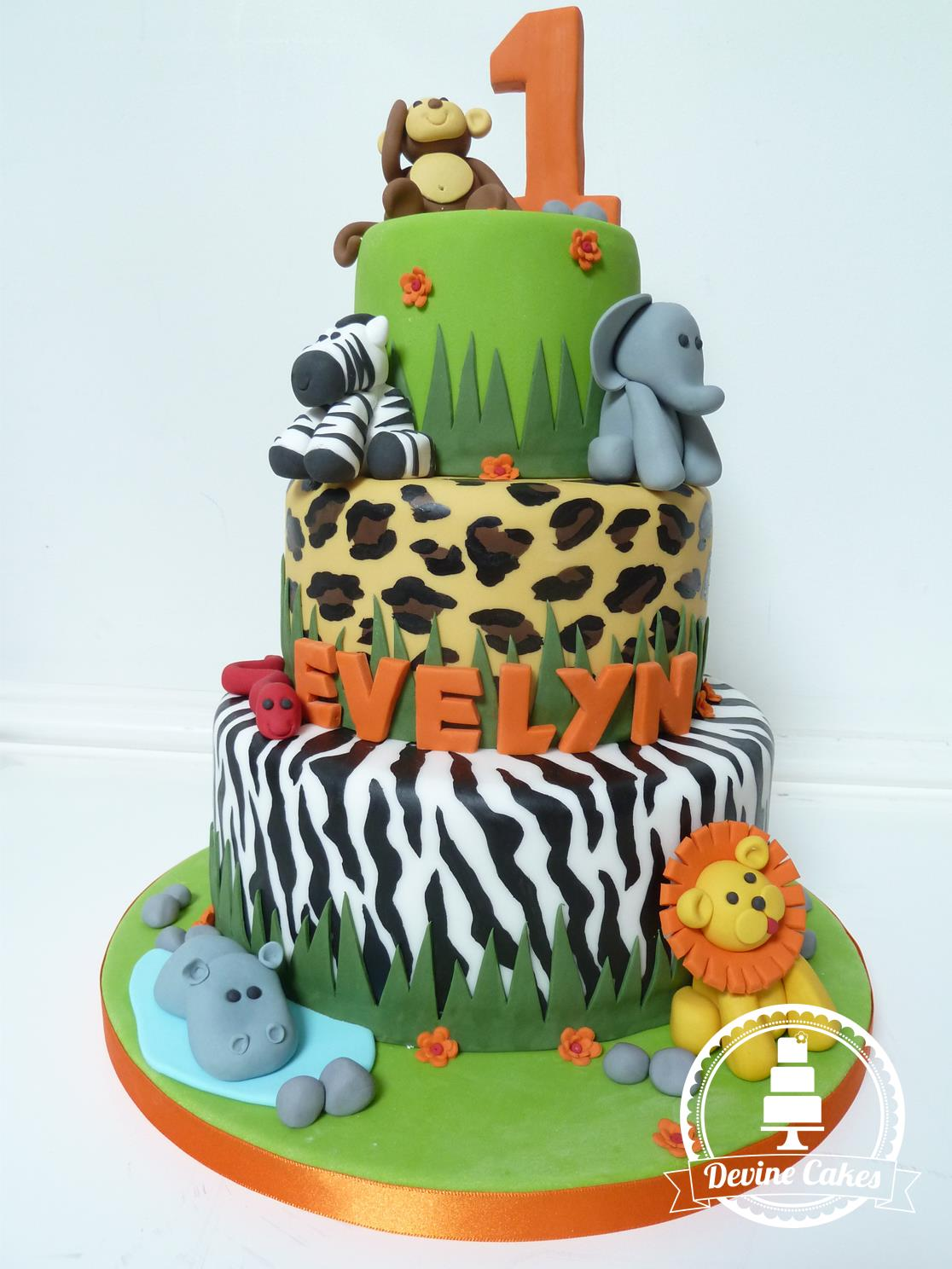 13 Zoo Animals 1st Birthday Cakes Photo Zoo Animals Birthday Cake