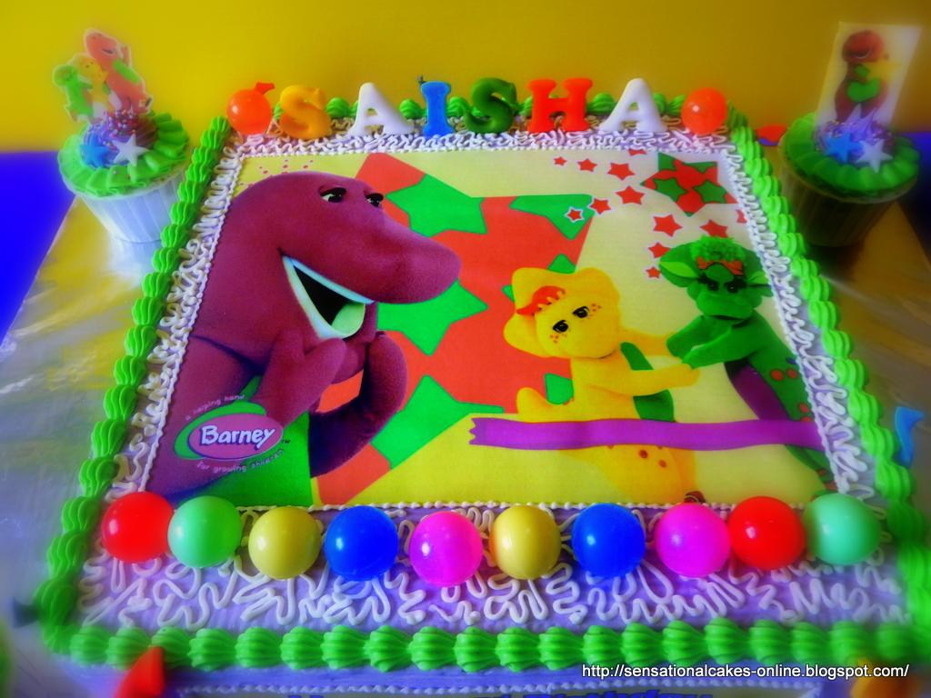 11 Barney Happy Birthday Cakes Photo Barney Birthday Cake Barney