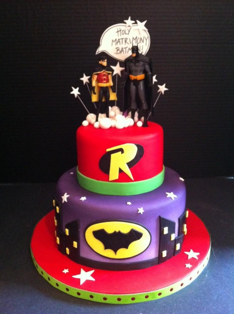 12 Batman And Robin Cakes Photo Batman And Robin Birthday Cake