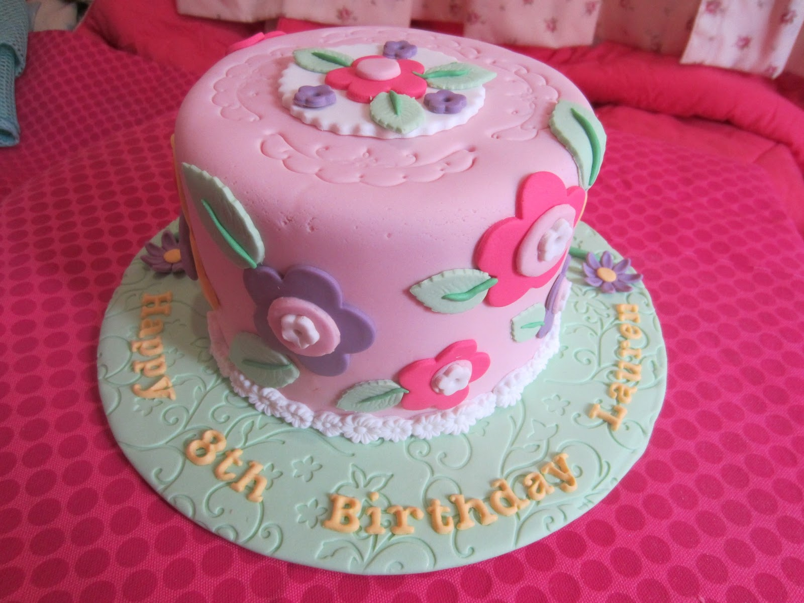 8 Flowers And Butterfly Design On Cakes Photo