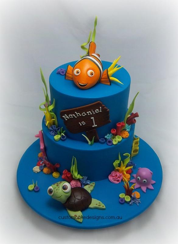 12 Round Finding Nemo Cakes Photo Finding Nemo Birthday Cake Ideas