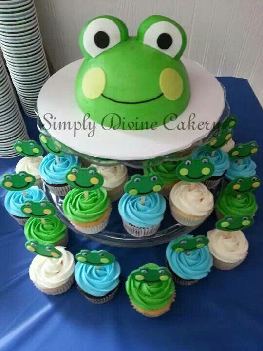 8 Frog Birthday Cakes And Cupcakes Photo Frog Birthday Cupcake
