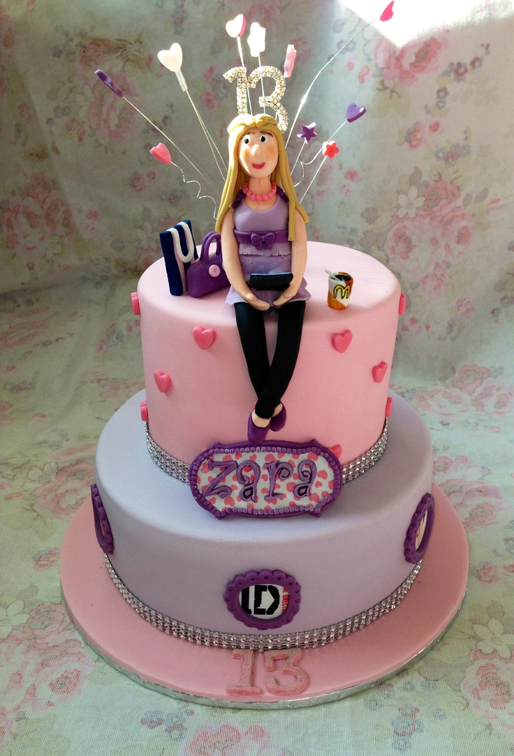 Magnificent 11 13Th Birthday Cakes For Girls Photo Girls 13Th Birthday Cake Funny Birthday Cards Online Alyptdamsfinfo