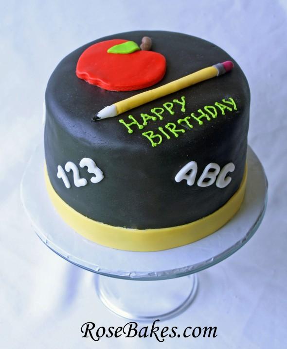 9 Teacher Cakes With Fondant Photo Happy Birthday Teacher Cake