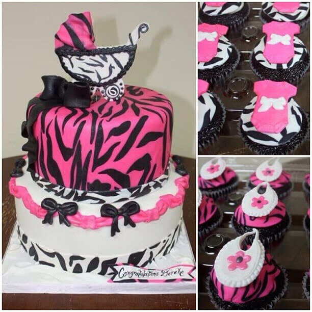 9 Hot Pink And Zebra Print Baby Shower Cakes For A Black Photo Hot