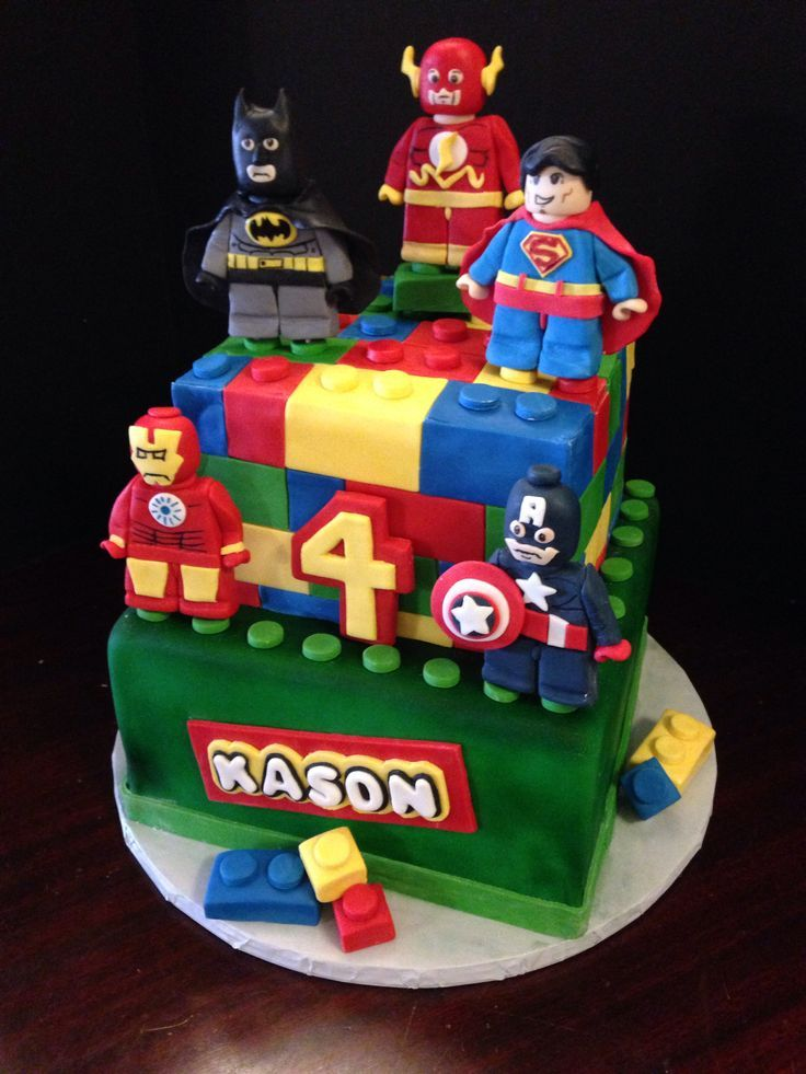 13 Superhero Birthday Cakes 25 Photo Lego Superhero Cake