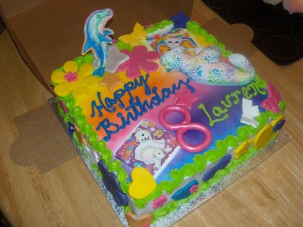 Incredible 11 Lisa Frank Themed Birthday Cakes Photo Lisa Frank Cake Funny Birthday Cards Online Alyptdamsfinfo