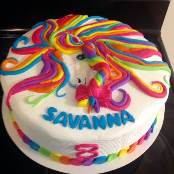 Awesome 11 Lisa Frank Themed Birthday Cakes Photo Lisa Frank Cake Funny Birthday Cards Online Alyptdamsfinfo