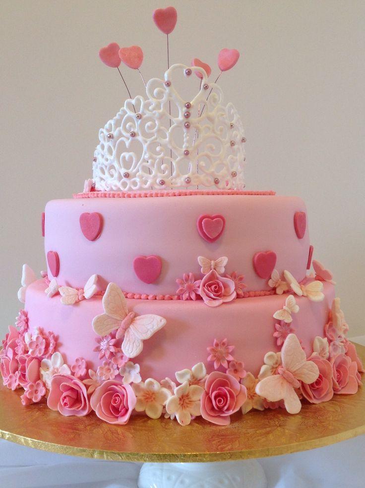 Strange 13 Beautiful Birthday Cakes Pink Photo Pink Girl Birthday Cake Funny Birthday Cards Online Sheoxdamsfinfo